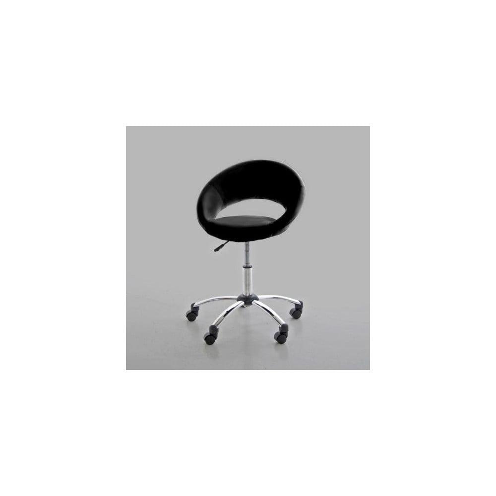 Czarne krzesło biurowe Actona Plump
