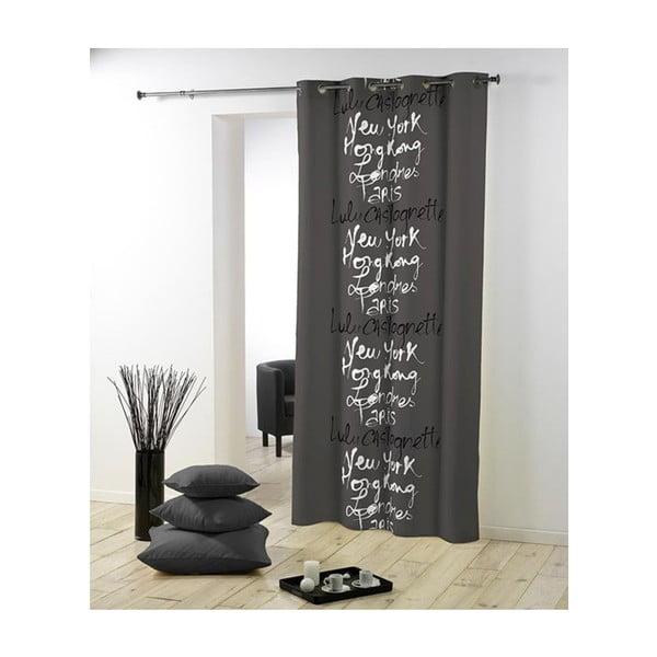Zasłonka Lulu Calligraphie Gris, 140x240 cm