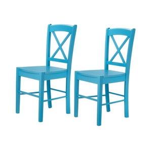 Zestaw 2 niebieskich krzeseł Støraa Trento Cross