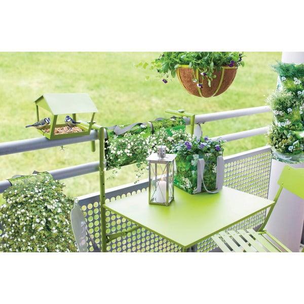 Składany stolik na balkon Nature, kolor zielony