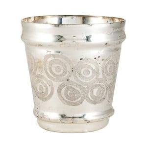 Świecznik Circle Silver, 15x15x16 cm