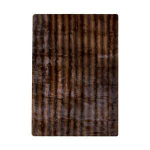 Brązowy dywan z króliczej skóry Pipsa Blanket, 180x120 cm
