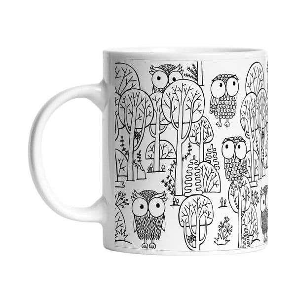 Ceramiczny kubek A lot of Owls, 330 ml