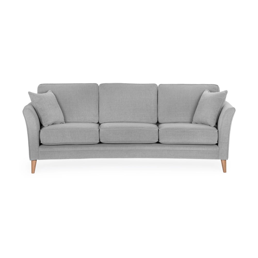 Jasnoszara sofa 3-osobowa Softnord Luiza