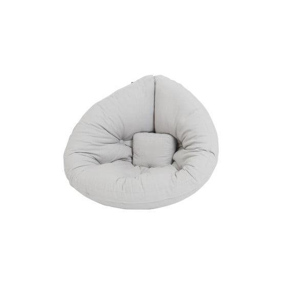 Jasnoszary dziecięcy fotel rozkładany Karup Design Mini Nido Grey