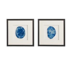 Zestaw 2 obrazów z agatem Agate, 40x40 cm