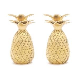 Zestaw 2 kieliszków w złotym kolorze W&P Design Pineapple