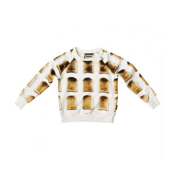 Biała bluza chłopięca Snurk Toast, 116