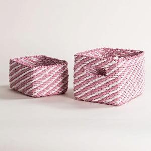 Zestaw 2 różowych koszyków Compactor Basket Claudie