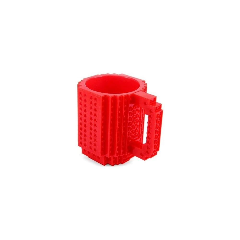 Czerwony Kubek Plastikowy Z Motywem Lego Z Klockami Just Mustard