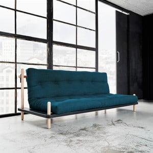 Sofa rozkładana Karup Point, Black/Raw Beech/Deep Blue