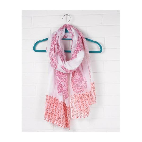 Szal Print Paisley Hot Pink