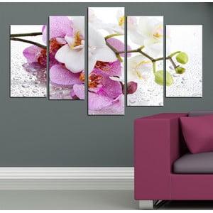 5-częściowy obraz Orchidea