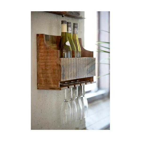 Pólka na wino i szklanki do wina Factory