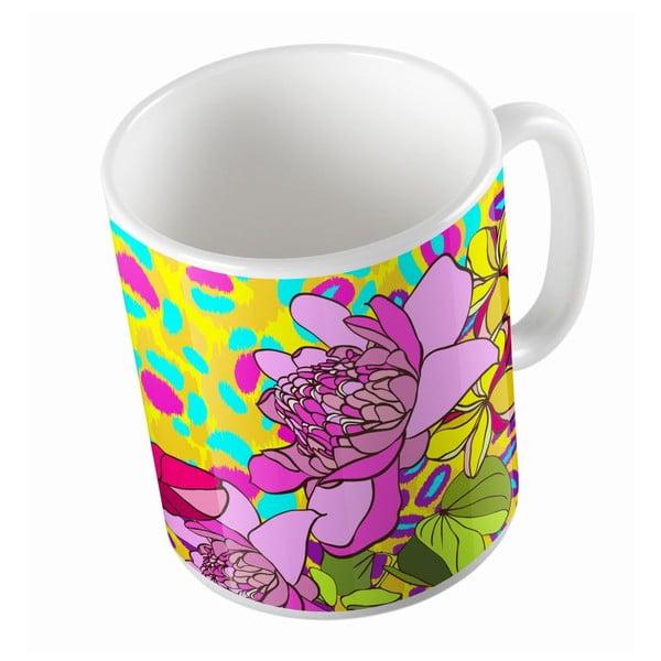 Ceramiczny kubek Leopard In Flowers, 330 ml