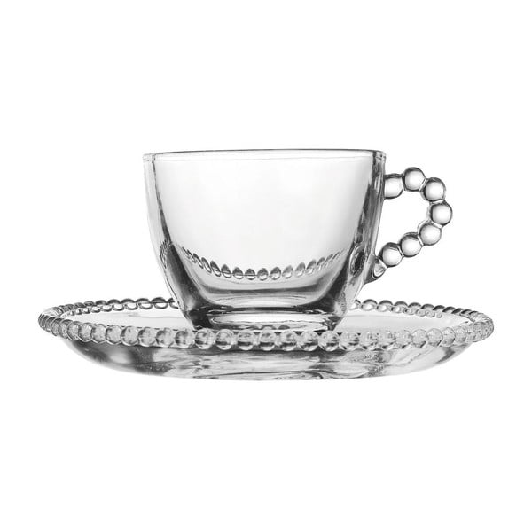 Zestaw 4 filiżanek ze spodkiem Pearls Coffee