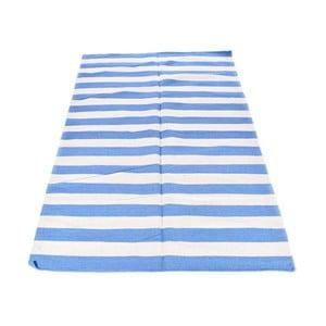 Dywan wełniany Geometry Stripes Pigeons Blue & White, 160x230 cm