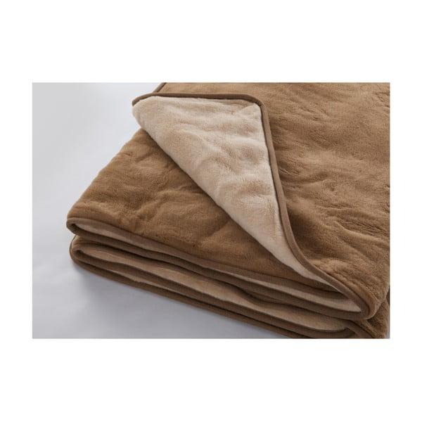 Koc   wełniany Royal Dream Dark Brown, 200x200 cm