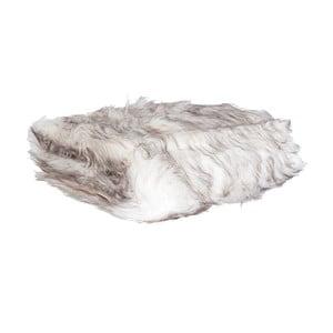 Biały pled Clayre & Eef Fur, 130x180 cm