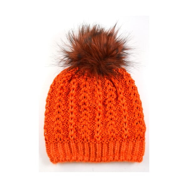 Czapka damska Perlik Orange