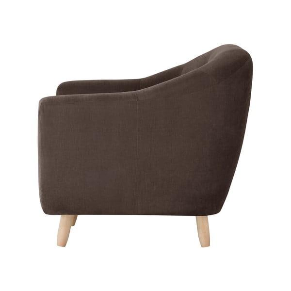 Czekoladowa sofa trzyosobowa Jalouse Maison Vicky