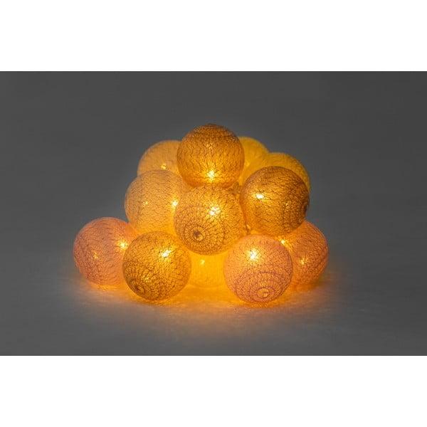Beżowo-różowa girlanda świetlna z LED Luuka, 15 lampek