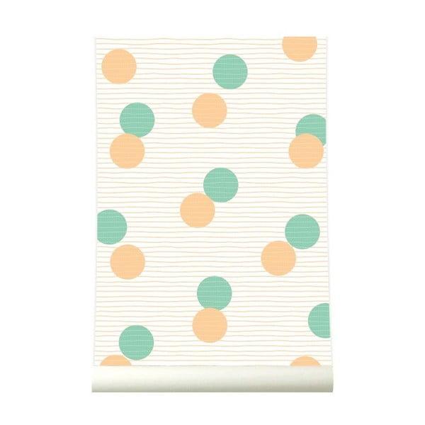 Tapeta Confetti Orangegreen