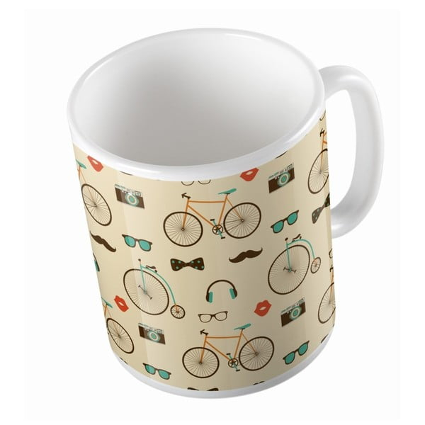 Ceramiczny kubek Vintage Bikes, 330 ml