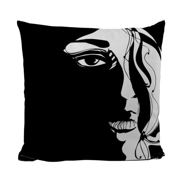 Poduszka Black Shake Unknown Woman, 40x40 cm