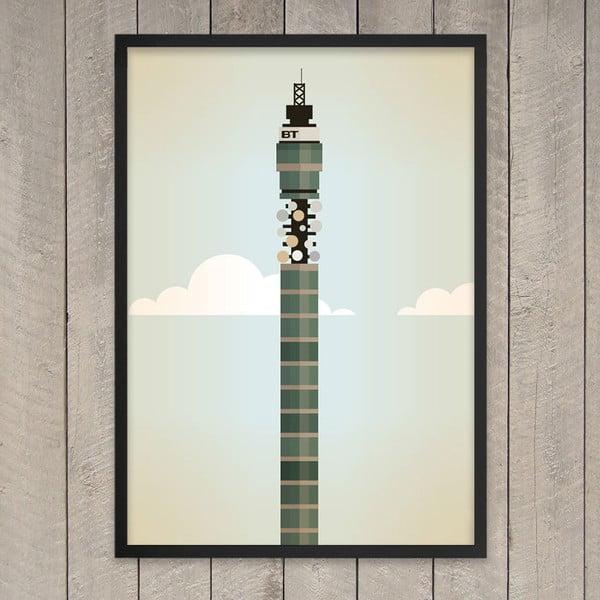 """Plakat """"BT Tower"""", 29,7x42 cm"""