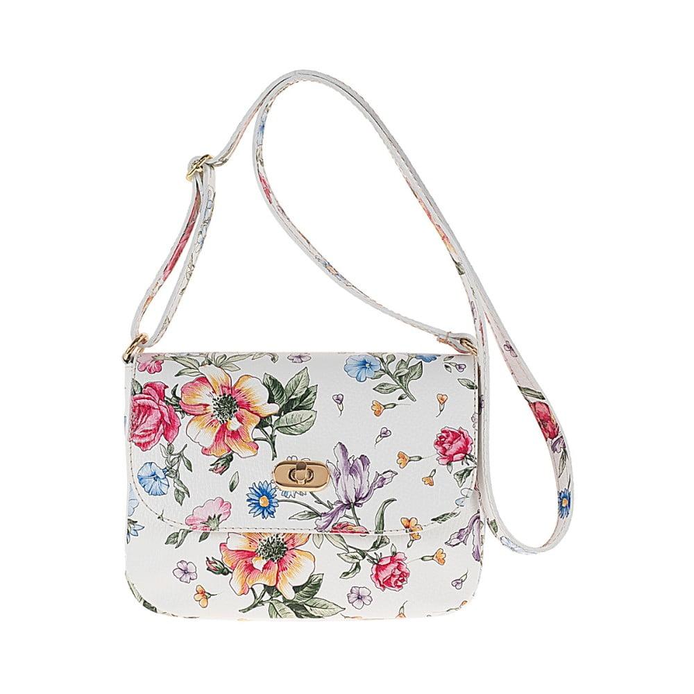 a62f6c7c726ec Biała skórzana torebka w kwiaty Pitti Bags Neva