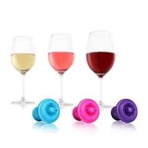 Hermetyczne korki do wina, 6 szt, kolorowe