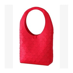 Filcowa torebka, czerwona