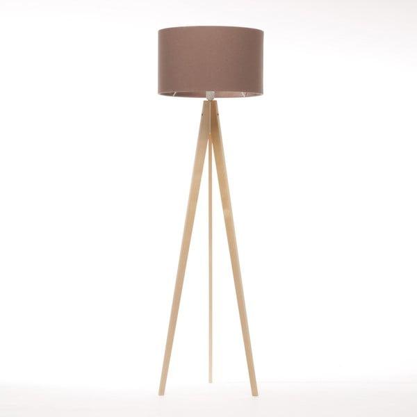 Brązowa lampa stojąca 4room Artist, naturalna brzoza, 150 cm