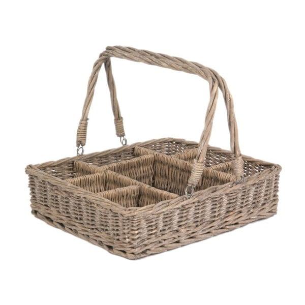 Koszyk z przegródkami Willow, 61x42x13 cm