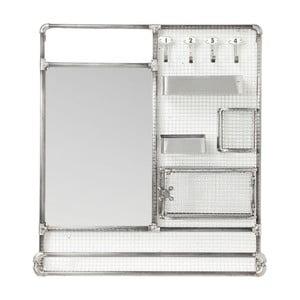 Lustro z półkami w srebrnej barwie Kare Design Mirror Buster Organizer, 71x80cm
