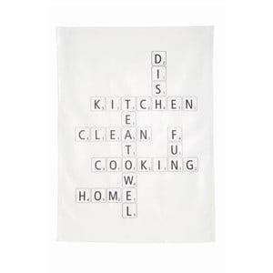 Ścierka kuchenna Scrabble, 50x70 cm