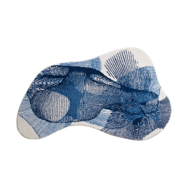 Dywanik łazienkowy Kolor My World XV 90x150 cm, niebieski