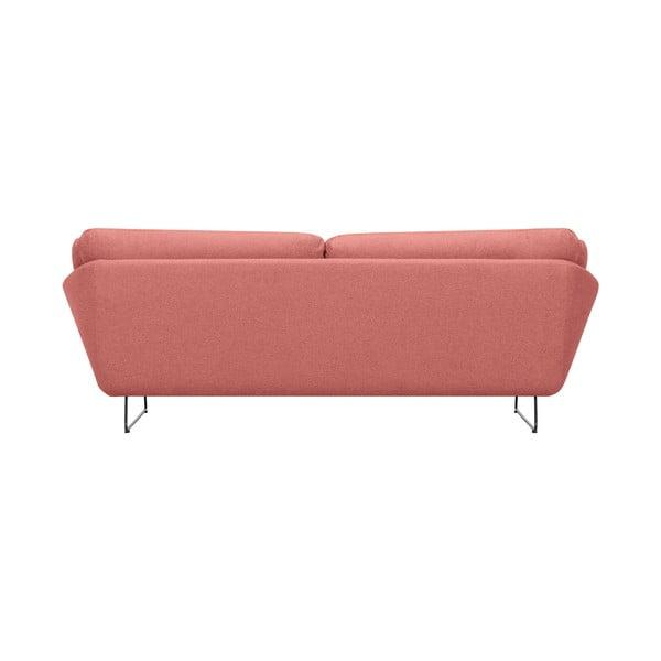 Zestaw różowej 3-osobowej sofy i pufu Windsor & Co Sofas Comet