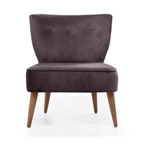 Ciemnofioletowy fotel tapicerowany Balcab Home Molly