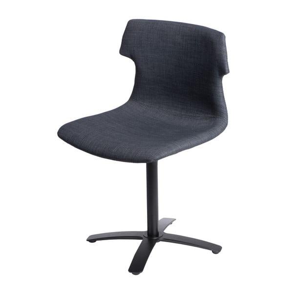 Zestaw 2 grafitowych tapicerowanych krzeseł D2 Techno One