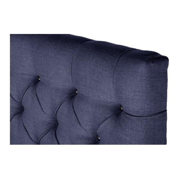 Granatowe łóżko z materacem Stella Cadente Venus Forme, 140x200 cm