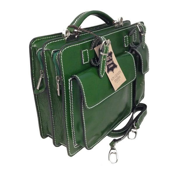 Zielona skórzana torba Gaia