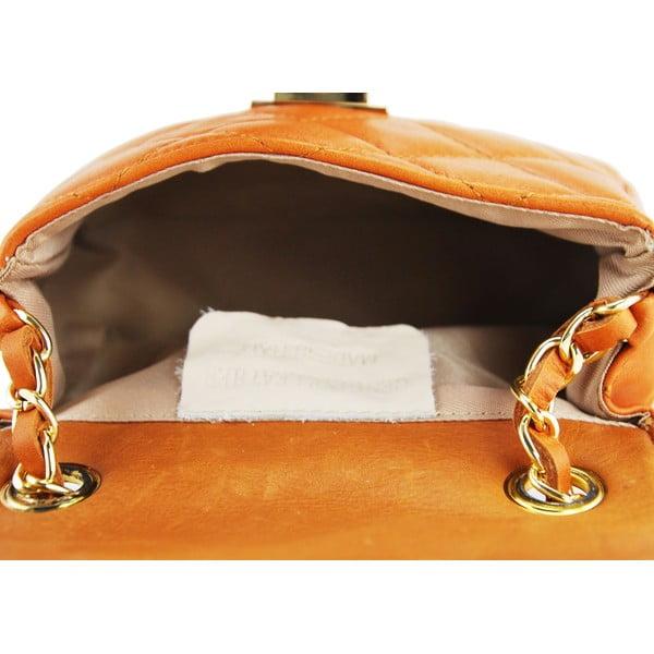Skórzana torebka Custina Cognac