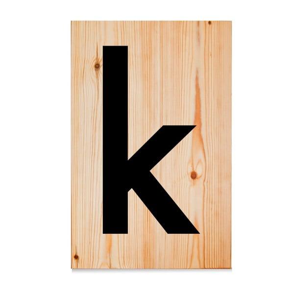 Drewniana tabliczka Letters K