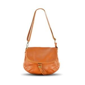 Skórzana torebka Celia, kolor wielbłądzi