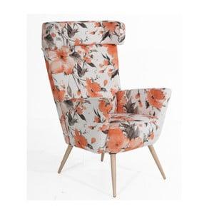 Fotel w kwiaty Max Winzer Hajo