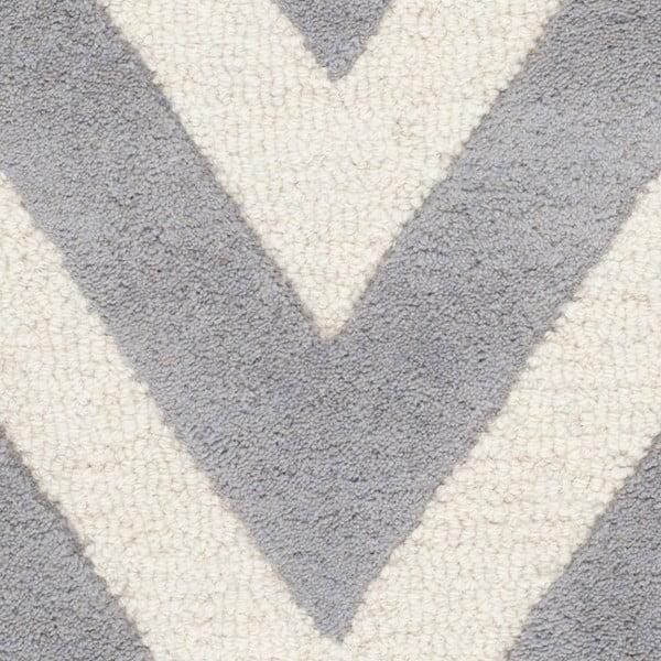 Dywan wełniany Stella Grey, 91x152 cm