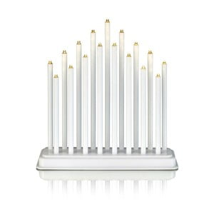 Biały świecznik LED Markslöjd Chester