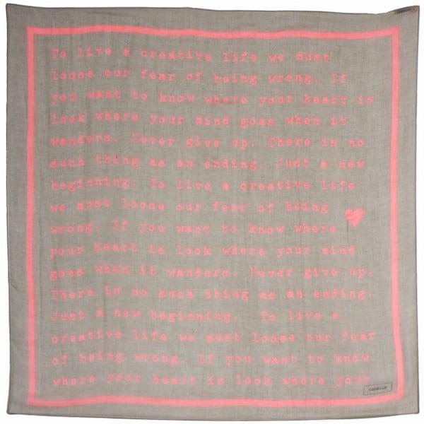 Szal Poetry Grunge Pastel